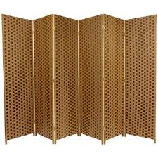 "70.75"" x 105"" Woven Fiber 6 Panel Room Divider"