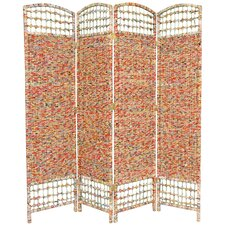 "67"" x 63"" Recycled Magazine 4 Panel Room Divider"