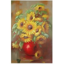 Hand Painted Sunflowers Original Painting on Wrapped Canvas