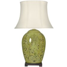 "Harvest Season 32"" H Table Lamp with Bell Shade"