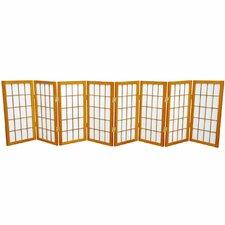"24"" x 96"" Window Tall Desktop Pane Shoji 8 Panel Room Divider"
