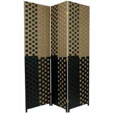"70.75"" x 52.5"" Woven Fiber 3 Panel Room Divider"