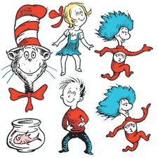 Large Dr Seuss Characters 2-sided Bulletin Board Cut Out (Set of 2)