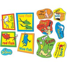 Large Dr Seuss Fish Fox and Sam Bulletin Board Cut Out
