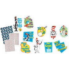 Cat in The Hat Reading Goal Kit Bulletin Board Cut Out