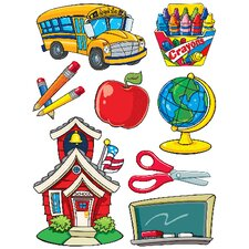 More School Supplies Window Cling (Set of 4)