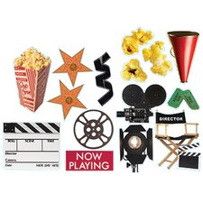 Movie Theme 2-sided Deco Kit Bulletin Board Cut Out (Set of 3)
