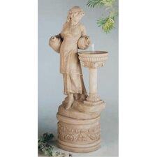Figurine Cast Stone Angella Fountain
