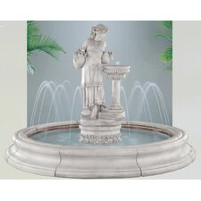 Figurine Cast Stone Angella in Toscana Pool Fountain