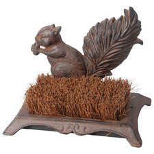 Boot Brush Squirrel Statue