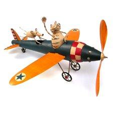 Cat Aviator Whirligig Statue