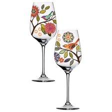 Bird Bliss 2 Piece Wine Glass Set