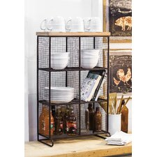 Wire Mesh 6 Bin Cubical Storage