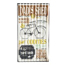 Dad's Shed Metal Corrugated Outdoor Sign Wall Decor
