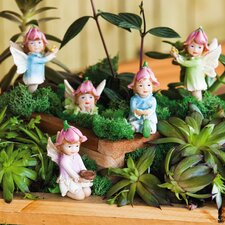 Mini Garden 5 Piece Petal Fairies Statue Set