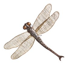Metal and Woven Dragonfly Wall Decor