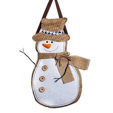 Snowman Burlap Christmas Decoration