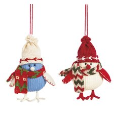 Chilly Bird Ornament (Set of 2)