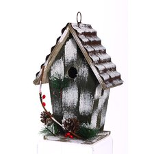 Snow Kissed Hanging Birdhouse