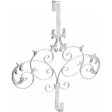 Formal Scroll Wreath Holder Over Door Mount