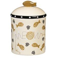 Ceramic Cat Treat Jar
