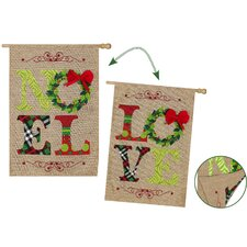Noel and Love Garden Flag