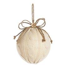 Sweater Knit Ball Ornament