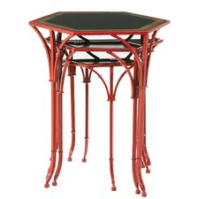 Floral Pagoda 3 Piece Nesting Table