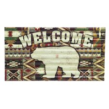 Welcome Bear Corrugate Wall Décor