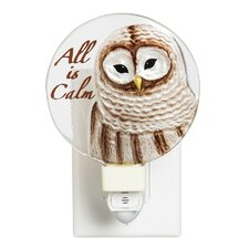 All is Calm Hand Painted Glass Nightlight