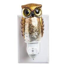Owl Glass Nightlight with Darkness Sensor