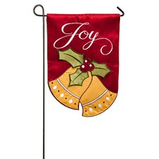 Joyful Christmas Bells Garden Flag