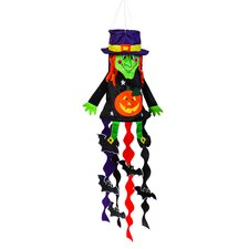 Witch Sculpt Applique Windsock