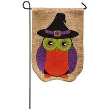 Glitter Owl Garden Flag