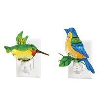 2 Piece Bird Night Light Set