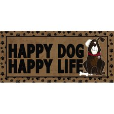 Happy Dog Happy Life Sassafras Doormat