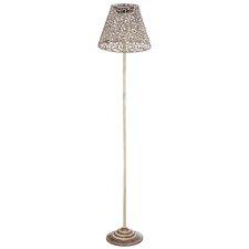 """Antique White Solar 58"""" Floor Lamp"""