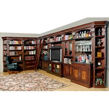 Corisca Full Library Wall with Bar