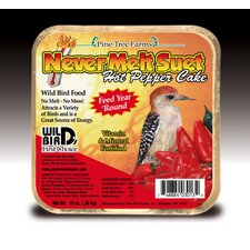 Never Melt Suet Hot Pepper Bird Food