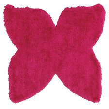 Senses Shag Butterfly Pink Area Rug