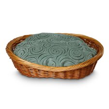 Luxury Wicker Quasar Robins Egg Dog Basket and Bed
