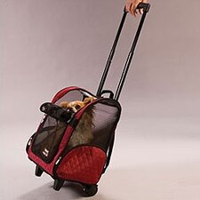 Wheel Around Travel Pet Carrier in Red