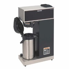 Airpot Coffee Brewer with Black Accents