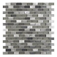 Commix 0.5'' x 1.88'' Aluminum and Glass Mosaic Tile in Sonoma