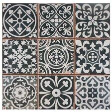 """Faventie Nero 13"""" x 13"""" Ceramic Field Tile in Black"""
