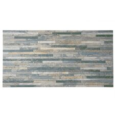 """Muro Arriba 12.5"""" x 24.5"""" Porcelain Field Tile in Grey"""