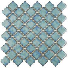 "Pharsalia 2"" x 2.5"" Porcelain Mosaic Tile in Glossy Marine"