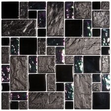 Eden Random Sized Glass & Stone Mosaic Tile in Iris