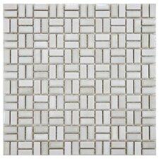 Arcadia Random Sized Porcelain Mosaic Tile in Glacier