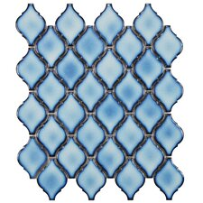 "Arabesque 1.87"" x 2.75"" Porcelain Mosaic Tile in Aella"